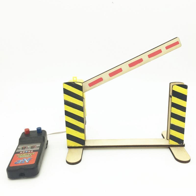 创意新款线控道闸 升降 路障 diy科技小制作小明实验玩具模型手工作业