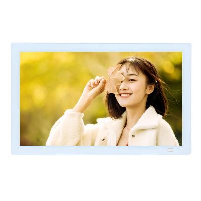 樂士利雅13.3英寸鋼化玻璃1920*1080 全視角高清數碼相框 電子相冊家用送禮 擺臺 照片播放器送16G U盤
