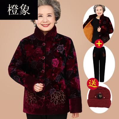 橙象中老年人冬装棉衣女奶奶唐装加厚棉袄60-70-80岁太太衣服妈妈外套