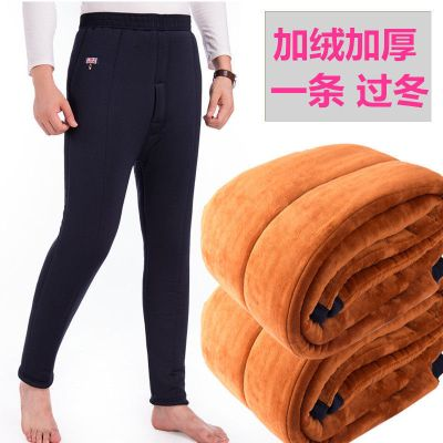 BPMA中老年冬季男士加厚加绒棉裤松紧高腰老年人超厚三层驼绒保暖裤子