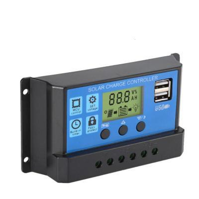 太陽能電池板充電控制器30A 智能識別12V24V全自動通用型 家用 30A