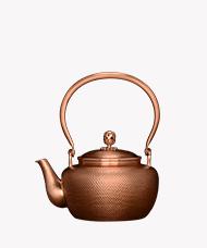 孟德仁 纯手工錾刻紫铜壶《素肌》