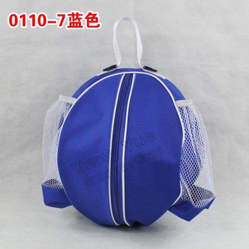 二手0110防水耐磨圆形篮球包足球排球训练包带网兜单