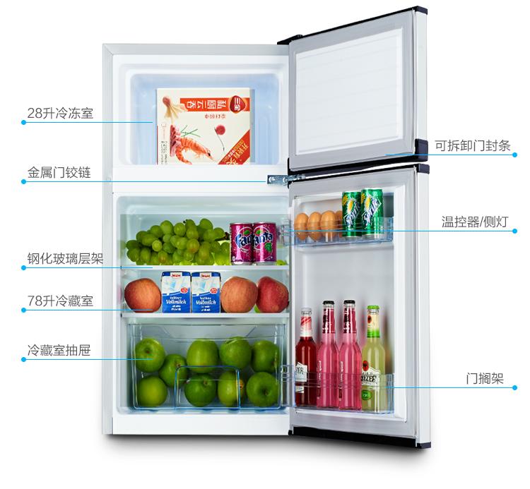冰箱打开的简笔画