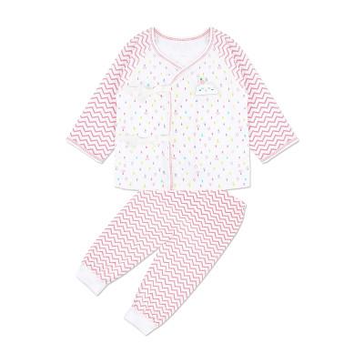 苏宁自营 婴姿坊 男童女童春季新品童装婴幼儿绑带长袖和尚袍两件套宝宝家居服 52-66cm 0-6个月