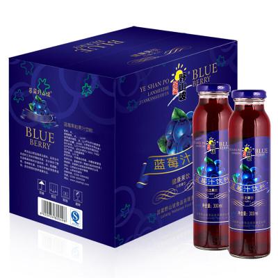 吕梁野山坡 蓝莓汁 果蔬汁饮料 300ml*12瓶 整箱装