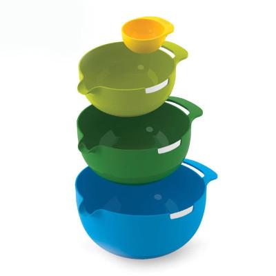 英国Joseph Joseph 彩虹盆4件套组合烘焙拌面/搅拌/蛋黄分离(小1.4L/中2.4L/大3.8L)