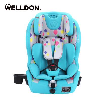 Welldon惠尔顿儿童安全座椅汽车9个月-12岁isofix婴儿宝宝酷睿宝祈福苹果红