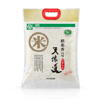天缘道 粳米 东北大米 五常米 稻花香 2号 4KG