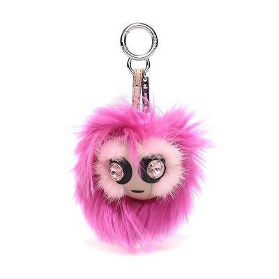 FENDI 芬迪 中性紫红色多色拼色毛皮钥匙扣吊饰挂饰 7AR589 A1SY F0Y9Z