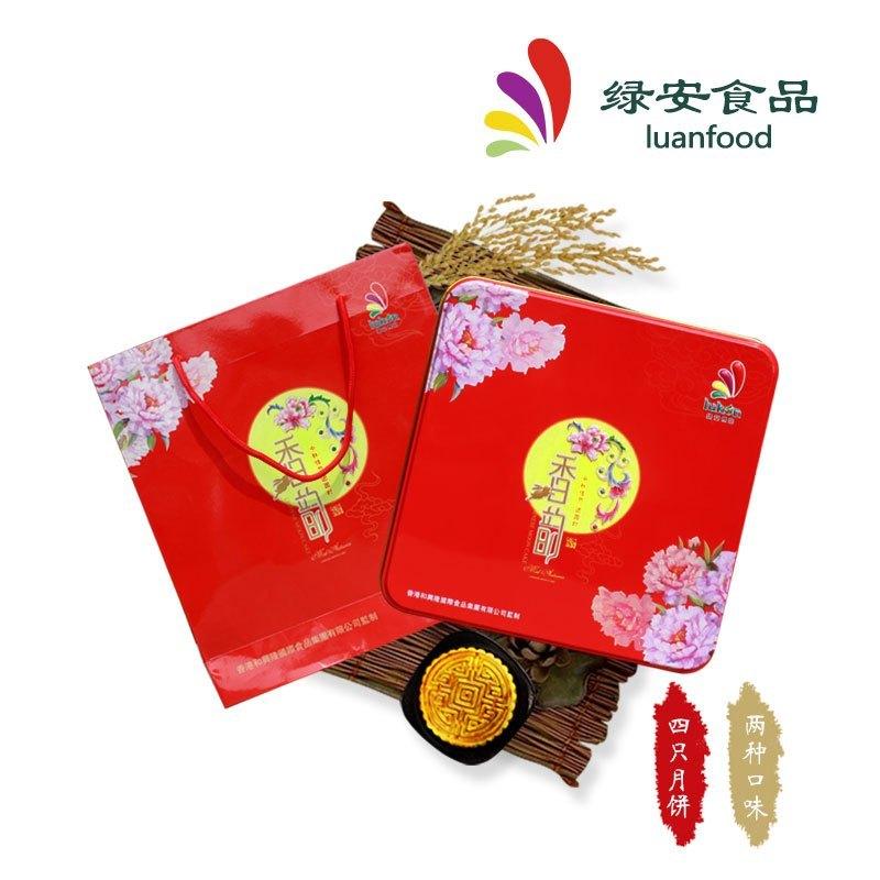 绿安 小香韵月饼 水果月饼 红豆月饼 500g 月饼礼盒 中秋送礼佳品
