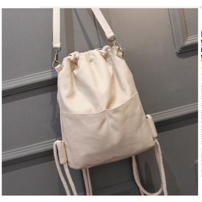 麦瑞思包邮旅行运动背包男女帆布拉链书包纯色束口袋子抽绳布袋双肩包包MAR PAIRS
